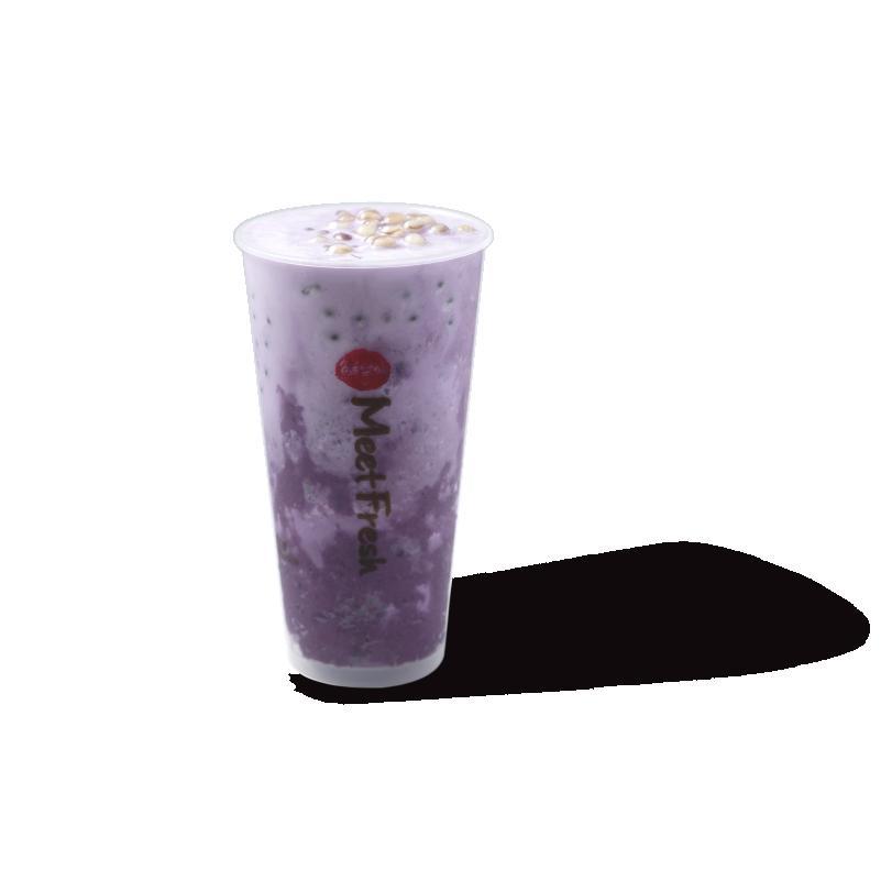 紫薯啵啵冰沙-茶品系列